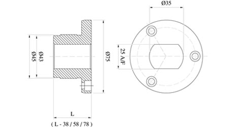 Dimensions for Wooden match plate Bush plate